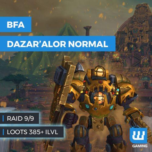 raid bataille de dazar'alor normal