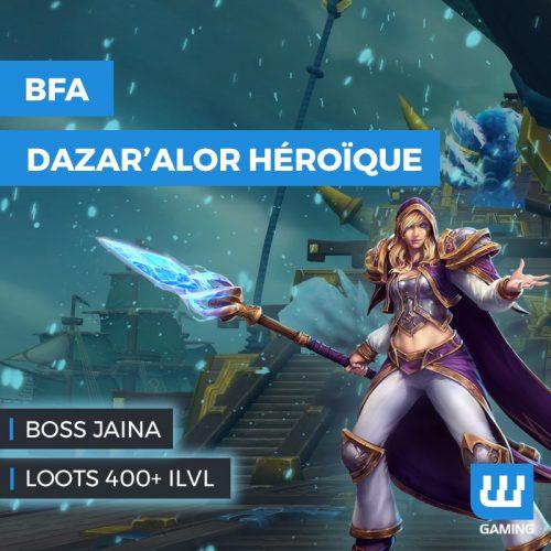 boost jaina wow bataille de dazar'alor