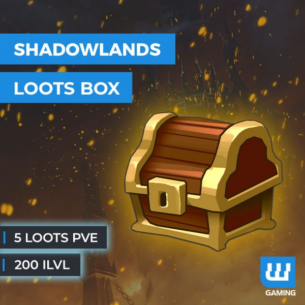 Boost 5 loots PvE 200ilvl WoW Shadowlands
