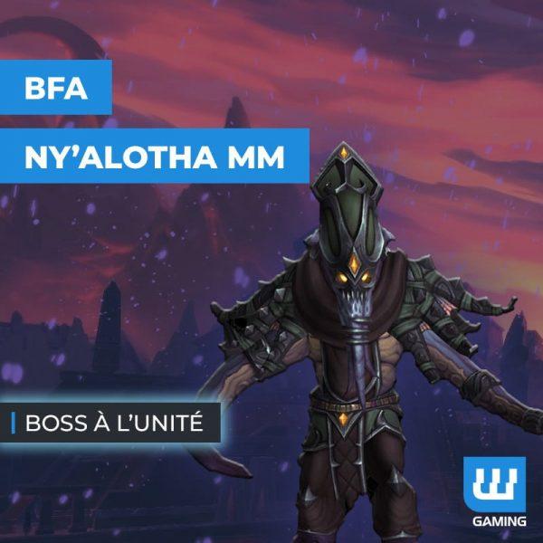 Boss Ny'alotha Mythique à l'unité WoW