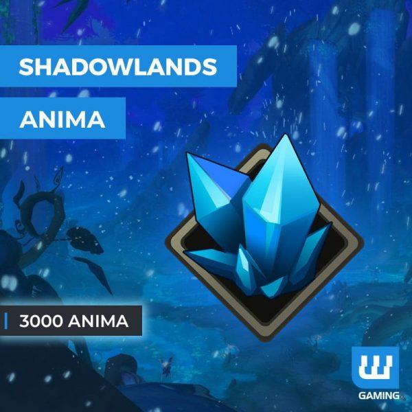 Acheter 3000 Anima WoW Shadowlands