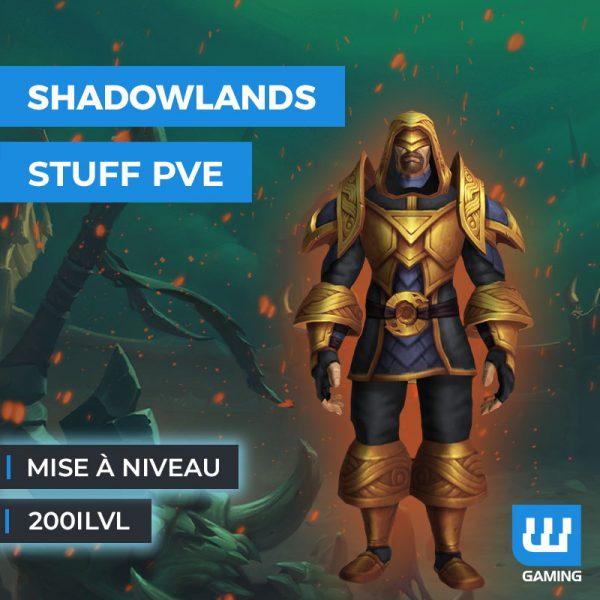Boost Mise à niveau PvE 200ilvl WoW Shadowlands